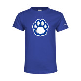 Youth Royal T Shirt-Panther Paw