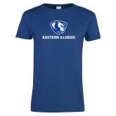 Ladies Royal T Shirt-Eastern Illinois Logo