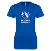 Next Level Ladies SoftStyle Junior Fitted Royal Tee-EIU Primary Logo