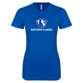 Next Level Ladies SoftStyle Junior Fitted Royal Tee-Eastern Illinois Logo