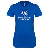 Next Level Ladies SoftStyle Junior Fitted Royal Tee-Eastern Illinois Panthers