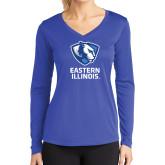 Ladies Syntrel Performance Royal Longsleeve Shirt-EIU Primary Logo