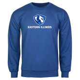 Royal Fleece Crew-Eastern Illinois Logo