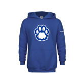 Youth Royal Fleece Hoodie-Panther Paw