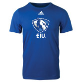 Adidas Royal Logo T Shirt-Eastern Illinois Secondary