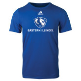 Adidas Royal Logo T Shirt-Eastern Illinois Logo