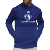 Adidas Royal Team Issue Hoodie-Eastern Illinois Logo