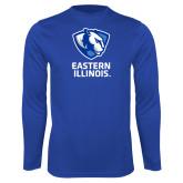Performance Royal Longsleeve Shirt-EIU Primary Logo