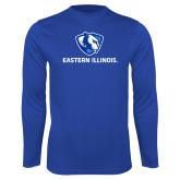 Performance Royal Longsleeve Shirt-Eastern Illinois Logo