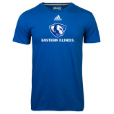 Adidas Climalite Royal Ultimate Performance Tee-Eastern Illinois Logo