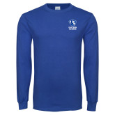Royal Long Sleeve T Shirt-EIU Primary Logo