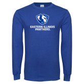 Royal Long Sleeve T Shirt-Eastern Illinois Panthers