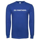 Royal Long Sleeve T Shirt-EIU Panthers