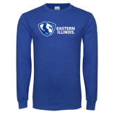 Royal Long Sleeve T Shirt-Eastern Illinois Horizontal