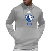 Adidas Grey Team Issue Hoodie-Eastern Illinois Secondary