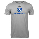 Adidas Climalite Sport Grey Ultimate Performance Tee-Eastern Illinois Logo