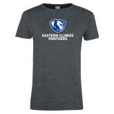 Ladies Dark Heather T Shirt-Eastern Illinois Panthers