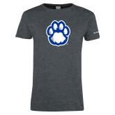 Ladies Dark Heather T Shirt-Panther Paw