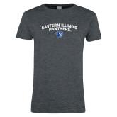 Ladies Dark Heather T Shirt-Collegiate Design