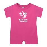 Bubble Gum Pink Infant Romper-EIU Primary Logo