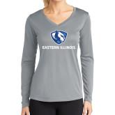 Ladies Syntrel Performance Platinum Longsleeve Shirt-Eastern Illinois Logo