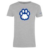 Ladies Grey T Shirt-Panther Paw