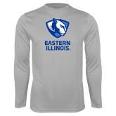 Performance Platinum Longsleeve Shirt-EIU Primary Logo