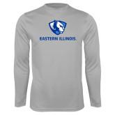 Performance Platinum Longsleeve Shirt-Eastern Illinois Logo