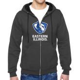 Charcoal Fleece Full Zip Hoodie-EIU Primary Logo