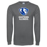 Charcoal Long Sleeve T Shirt-EIU Primary Logo
