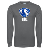 Charcoal Long Sleeve T Shirt-Eastern Illinois Secondary