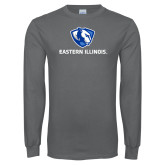Charcoal Long Sleeve T Shirt-Eastern Illinois Logo