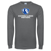 Charcoal Long Sleeve T Shirt-Eastern Illinois Panthers