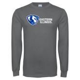 Charcoal Long Sleeve T Shirt-Eastern Illinois Horizontal