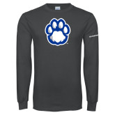 Charcoal Long Sleeve T Shirt-Panther Paw