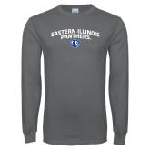 Charcoal Long Sleeve T Shirt-Collegiate Design