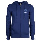 ENZA Ladies Royal Fleece Full Zip Hoodie-EIU Primary Logo