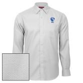 Red House White Diamond Dobby Long Sleeve Shirt-Eastern Illinois Secondary