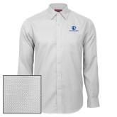 Red House White Diamond Dobby Long Sleeve Shirt-Eastern Illinois Logo