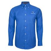 Mens Royal Oxford Long Sleeve Shirt-Eastern Illinois Logo