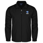 Full Zip Black Wind Jacket-EIU Primary Logo
