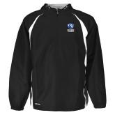 Holloway Hurricane Black/White Pullover-EIU Primary Logo