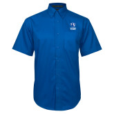 Royal Twill Button Down Short Sleeve-EIU Primary Logo