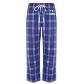 Royal/White Flannel Pajama Pant-EIU Primary Logo