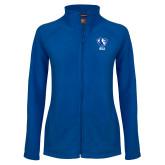 Ladies Fleece Full Zip Royal Jacket-Eastern Illinois Secondary
