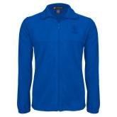 Fleece Full Zip Royal Jacket-EIU Primary Logo