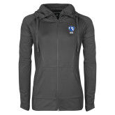 Ladies Sport Wick Stretch Full Zip Charcoal Jacket-Eastern Illinois Secondary