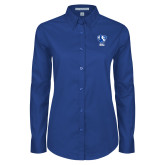 Ladies Royal Twill Button Down Long Sleeve-Eastern Illinois Secondary