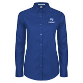 Ladies Royal Twill Button Down Long Sleeve-Eastern Illinois Panthers