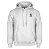 White Fleece Hoodie-EIU Primary Logo